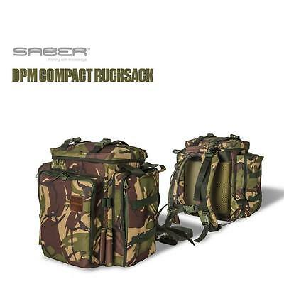Saber Fishing Tackle DPM Camo Compact Rucksack Carp Luggage