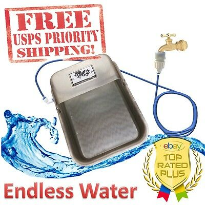 Automatic Pet Waterer Dog Animals Self Filling Water Bowl Dish Aluminum Endless