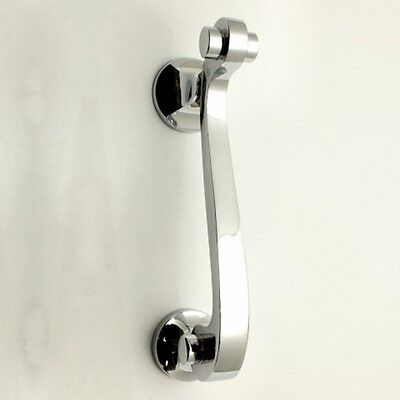 Scroll Design Narrow Pattern Front Door Knocker in Polished Chrome Finish New