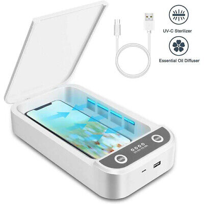 UV Ultraviolet Cell Phone Sterilizer Sanitizer Disinfection Box Case Cleaner UVC