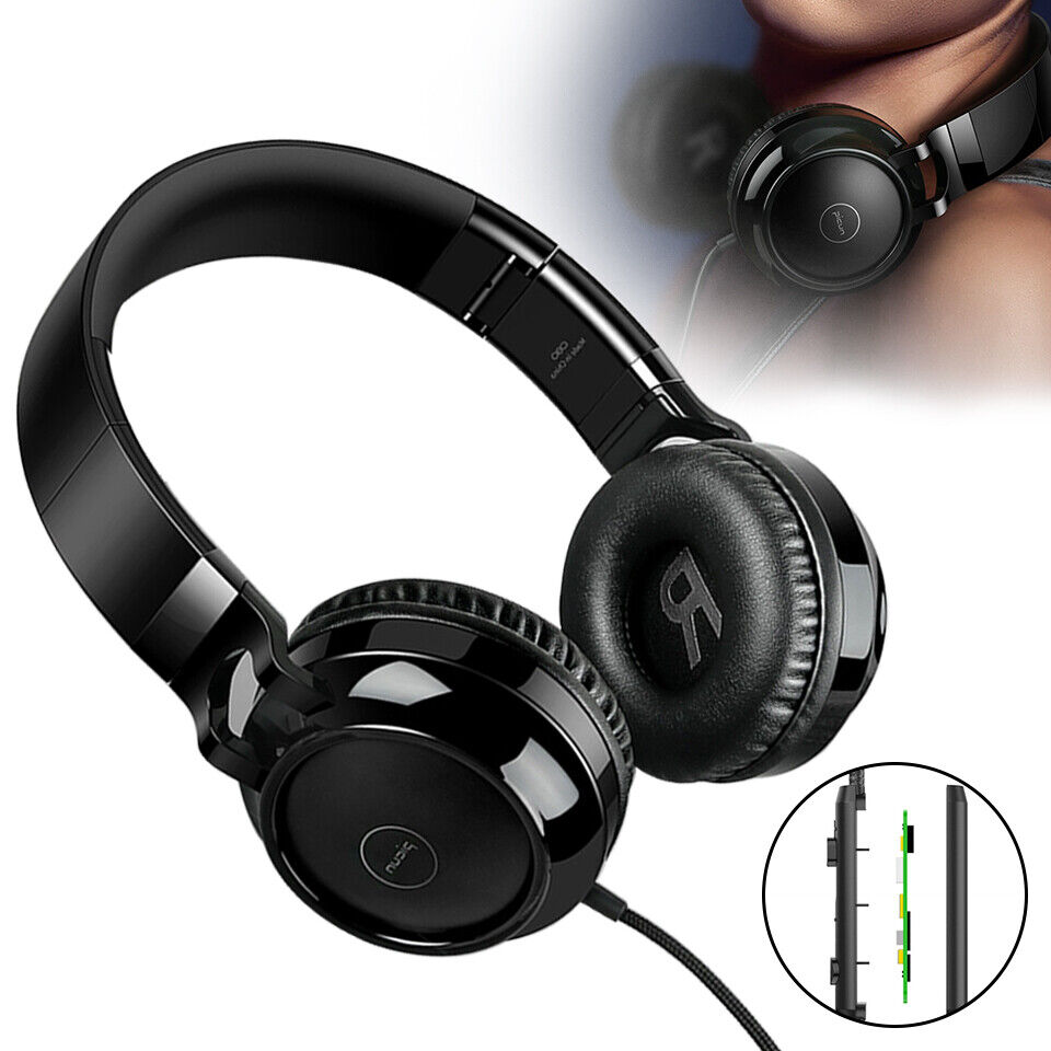 Foldable Wired Headphone Over the Ear Headset Stereo Super B