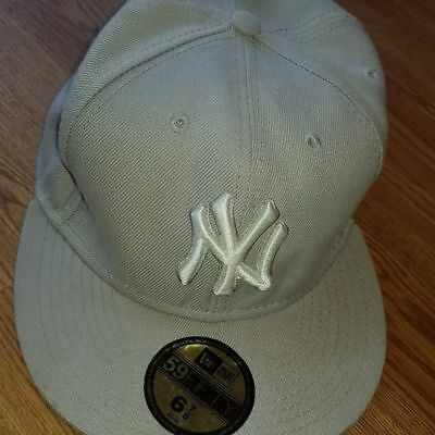 quality design b6602 cf988 NEW ERA 59 50 Fifty Nine Fifty New York Yankees MLB Fitted Baseball Cap 6  7 8