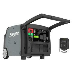 Energizer Quiet 3200-Watt Portable Inverter Generator with Remote & Electric Start (eZV3200P)