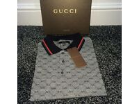 Gucci GG Polo Shirts 'Brown & Grey'