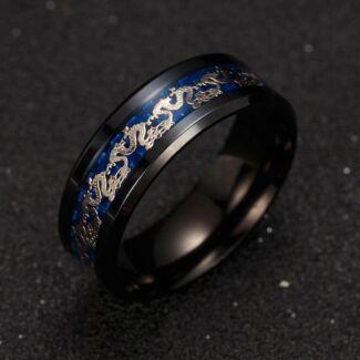 Black Dragon Mens Ring