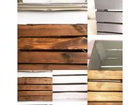 Wooden Apple Crates - Various Colors & Wood Finishes - Made To Order