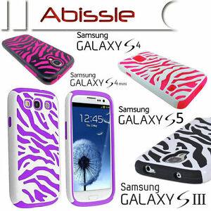 Heavy-Duty-2-Pce-Durable-Zebra-Case-Cover-for-Samsung-Galaxy-S3-S4-S5-S4-mini