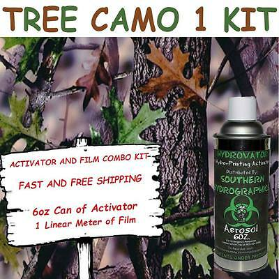 Hydrographic Film Water Transfer Hydro Dip 6oz. Activator Tree Camo 1 Dip Kit