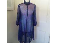 Sheer seethrough one-off handmade overdress UK size 8