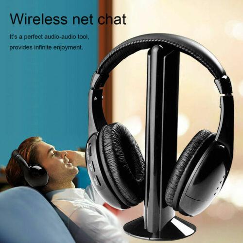 5 in 1 headset wireless headphones cordless