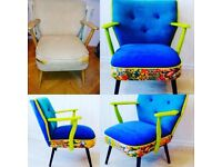 Re-upholstery service, headbord, bespoke, Design, SOFA, CHAIR ,FOOTSTOOLS, FURNITURE