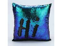 double color glitter sequined pillow