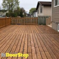 New Deck and Fence Building