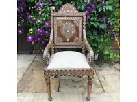 Anglio-Indian Inlay Side Chair