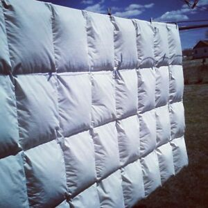 Hutterite goose down and feather duvets.