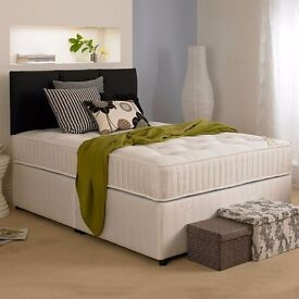 Brand New Double/Small Double Divan Bed Black Base with 12inch thick Memory Foam Orthopedic Mattress