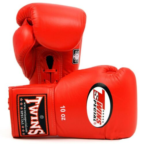 Shiv Naresh Teens Boxing Gloves 12oz: Twins Special Muay Thai Professional Lace Up Boxing