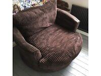 Brown swivel chair