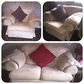 2 seater sofa & x2 arm chairs