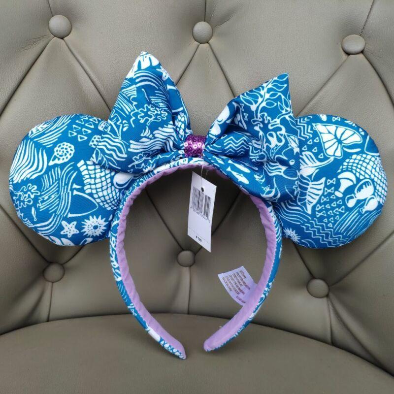 New Disney Parks Aulani Hawaii Rare Minnie Ears Mickey Mouse Headband
