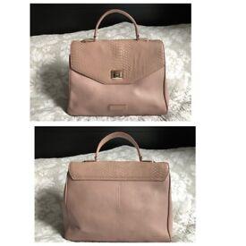 OSPREY by Graeme Ellisdon Dust Pink Handbag Real Leather Floral Lined