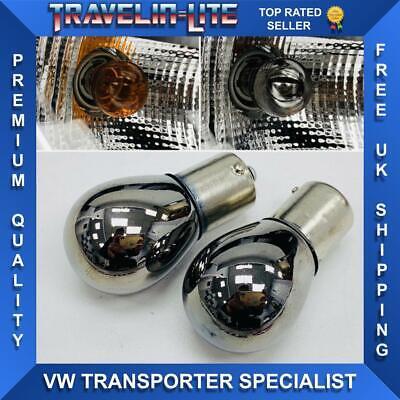 T5 T5.1 T6 Chrome Headlight Indicator Bulbs 581 Brand New