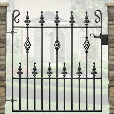 Safety Spear Single Garden Gates Wrought Iron Metal Steel Gate | 3ft 3in Opening
