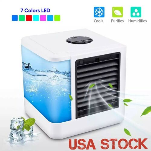 Portable Mini AC Air Conditioner Cooling Fan Personal Unit Humidifier Purifier