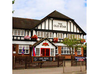 Temporary Christmas Staff - Bar and Waiting Staff Required - £7.20 p/h - Old Star - Wormley, Herts