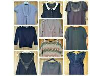 Selection of women's clothing. Various sizes and prices.