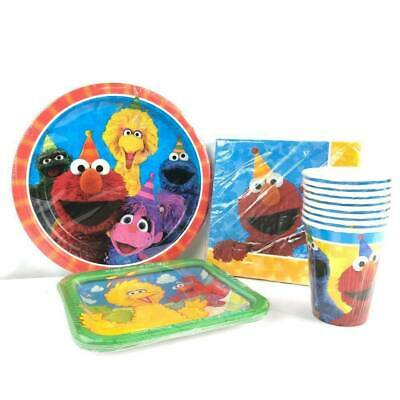 Sesame Street Party Plates (sesame street Elmo Party Express Pack for 8 Guests (Cups Napkins &)