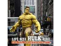 Hire Life Size Marvel Hulk & Iron Man Statues or Realistic Animatronic Dinosaur For Parties Events