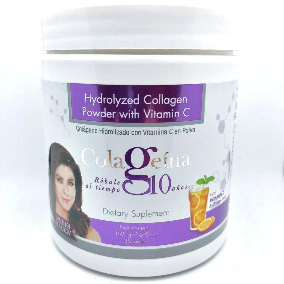 Colageina 10 100g Colageno Hidrolizado Con Vitamina C en Polvo, Sabor Naranja!