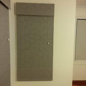 Grey Roman Blinds - Many Sizes Caringbah Sutherland Area Preview