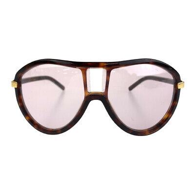 Gucci Vintage Teardrop Aviator Marble Mens Women Brown Plastic Sunglasses _15410