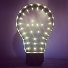 Vintage Industrial style 'Light Bulb' Marquee light Battery Operated 29 LED Lights