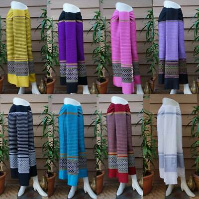Hand woven cotton sarong, Myanmar dress, Myanmar wrap sarong, Thai cotton -