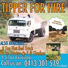 5t excavator, 7t tipper, 8t flatbed truck hire Nambour Maroochydore Area Preview