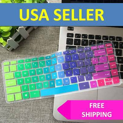 Rainbow Keyboard Cover Skin Case Silicone for Hp Pavilion Stream 14 Inch Laptop - Hp Keyboard Cover