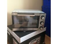 Cook works oven