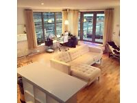 Double room in furnished city centre penthouse apartment