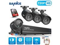 8 ch 4 camera 720p tb storage dvr cctv kit indoor outdoor