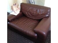 ** BROWN SOFA FOR SALE** 3seater and a large 1