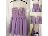 Size 12 new lilac skater dress from Missguided