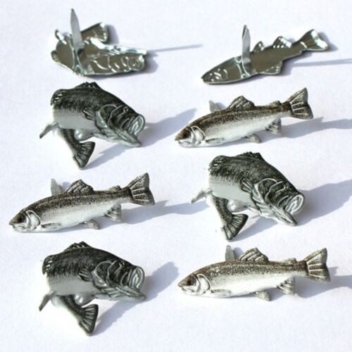 TROUT BRADS ** 8 PCS ** BROWN & GREY **