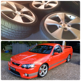 """19"""" Genuine FPV Silver Argent Wheels Ford Falcon new tyres"""