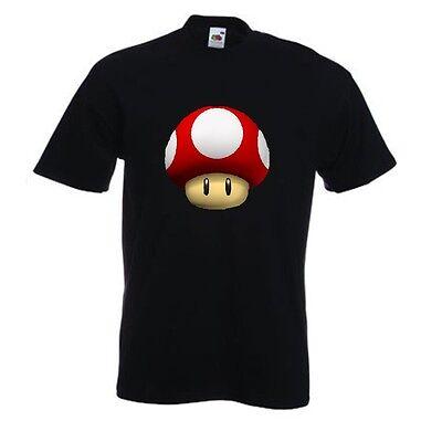 rot Pilz von Super Mario Welt / Kingdom / Kart Parodie T-Shirt Nintendo