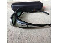 Panasonic 3D Glasses Unused and in plastic carrycase/box
