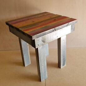 Little coloured rustic Table/ side table /stool