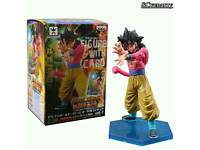 Dragon Ball Z Heroes Super Saiyan 4 Son Goku Figure With Card Collectible Model Toy
